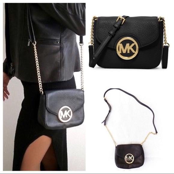 f260fbddbe92 Michael Kors Bags | Fulton Small Black Leather Crossbody | Poshmark